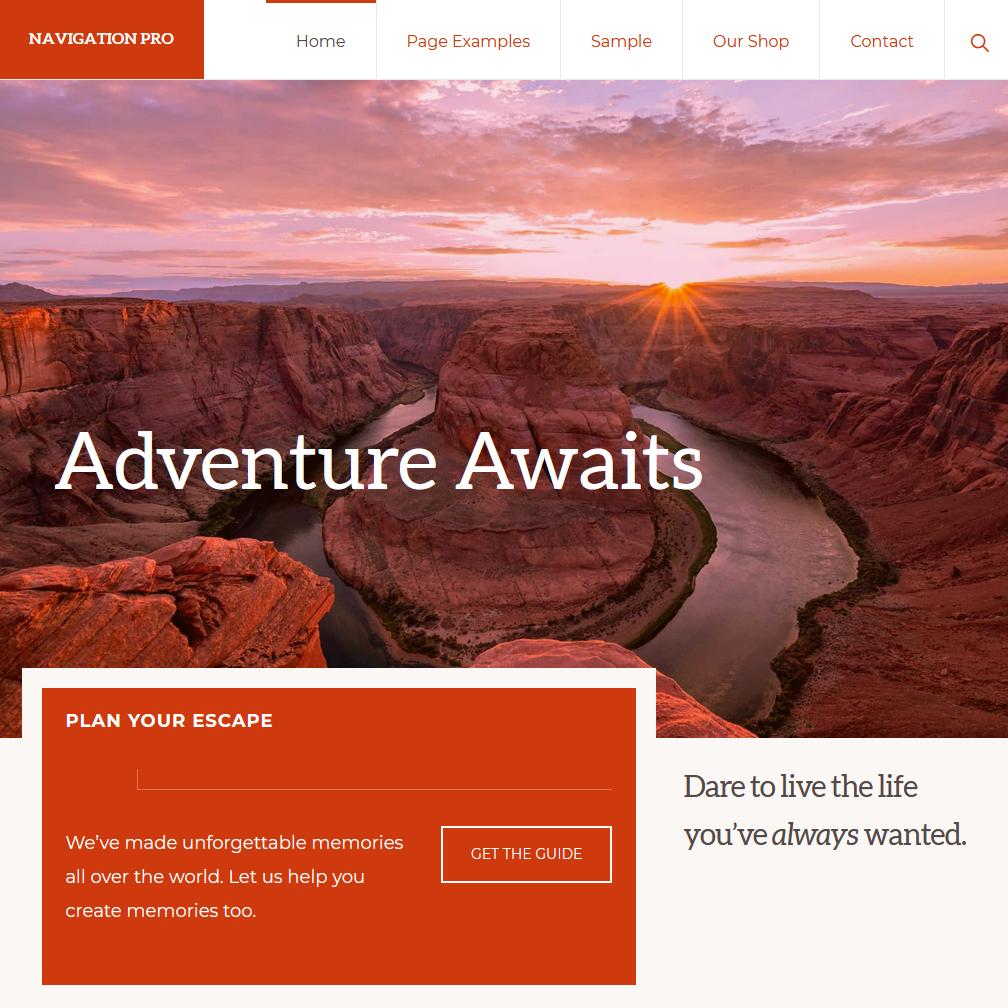 Navigation Pro theme by StudioPress.