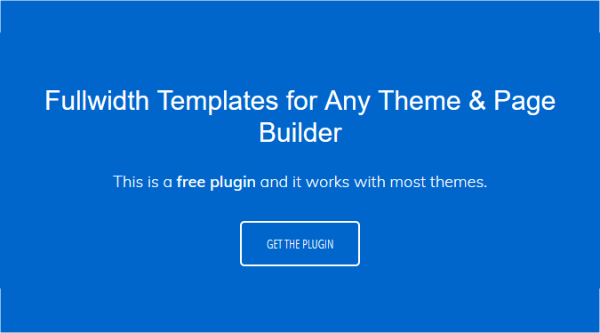 Full width page templates.