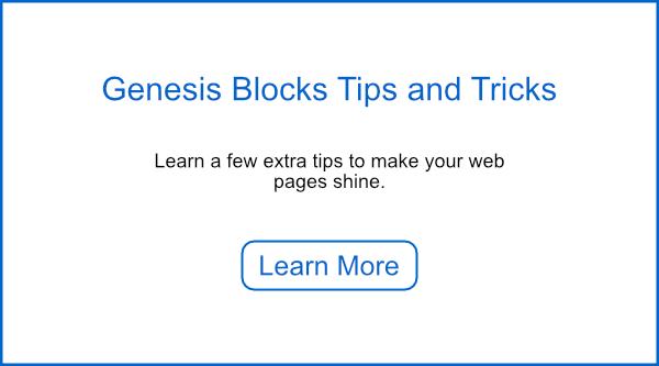 Genesis Blocks Tips and Tricks.